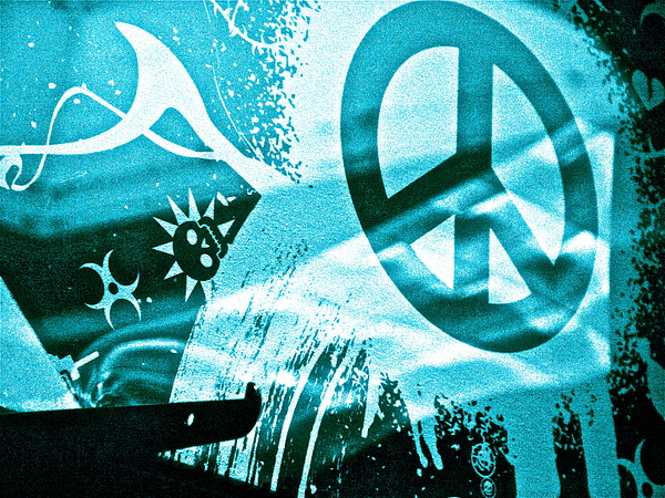 Give Peace A Shirt Print by Chuck Taylor