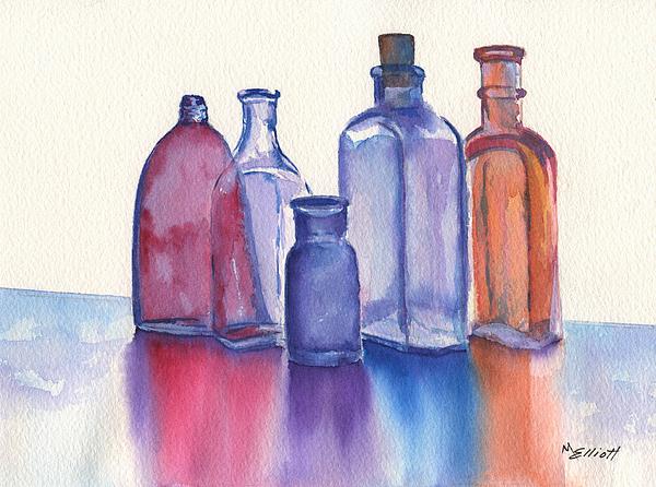 Glassy Reflections Print by Marsha Elliott
