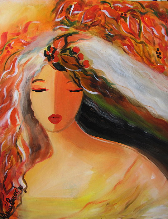 Goddess of autumn by ronnie biccard Fine art america
