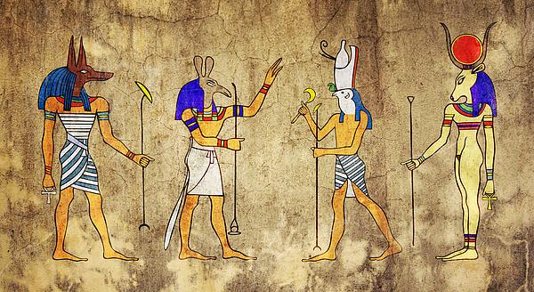 Gods Of Ancient Egypt Print by Michal Boubin