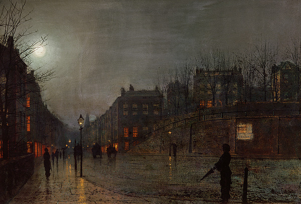 Going Home At Dusk Print by John Atkinson Grimshaw