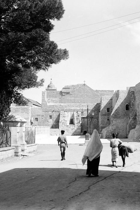 Going To The Church Print by Munir Alawi
