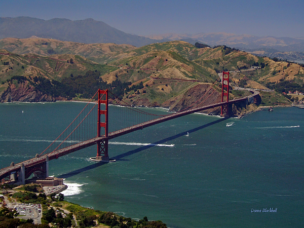 Golden Gate Print by Donna Blackhall