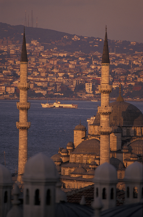 Golden Horn At Sunset From Suleymaniye Print by Richard Nowitz