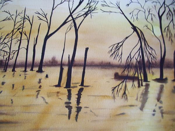 Golden Pond Print by Audrey Bunchkowski