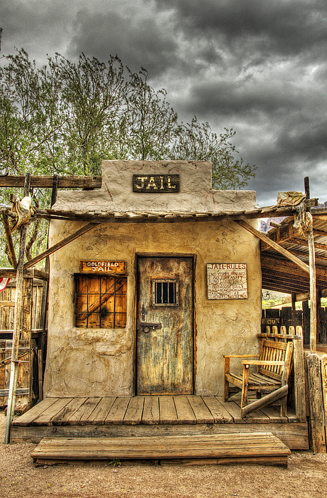 Goldfield Ghost Town - Jail  Print by Saija  Lehtonen