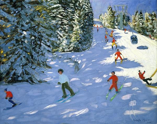 Gondola Austrian Alps Print by Andrew macara
