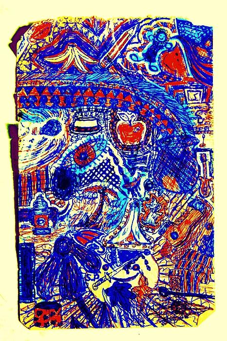 Graffiti Doodle  Print by Sheri Parris