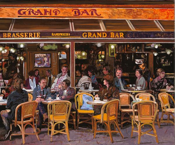 Grand Bar Print by Guido Borelli