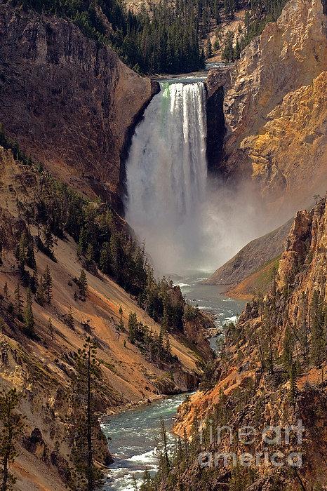 Grand Canyon Of The Yellowstone Print by Robert Pilkington