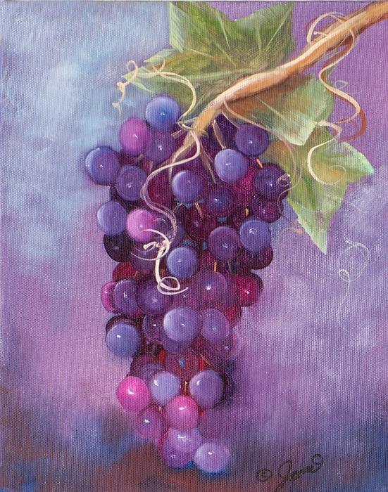 Grapes Print by Joni McPherson