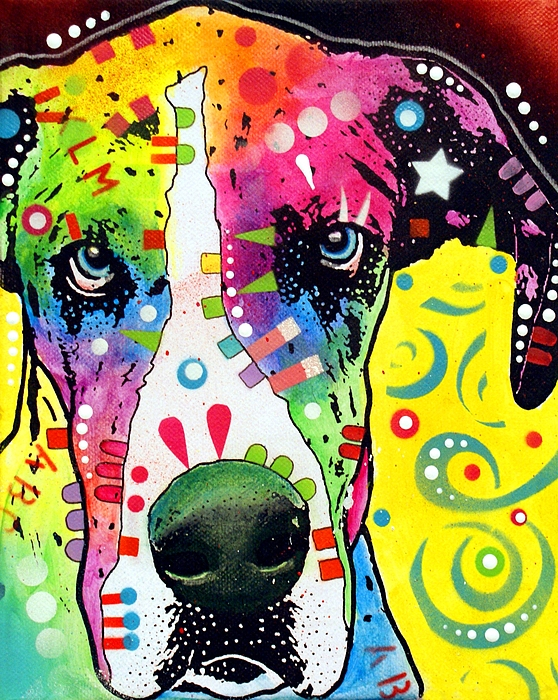 Great Dane Warpaint Print by Dean Russo