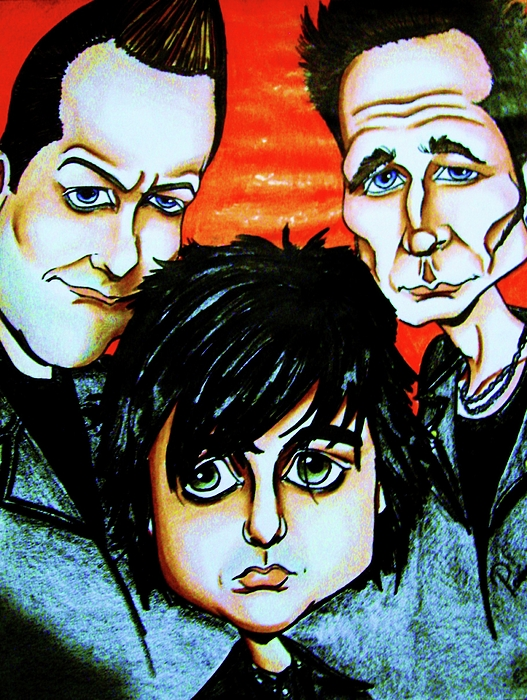Green Day Print by Penny  Elliott