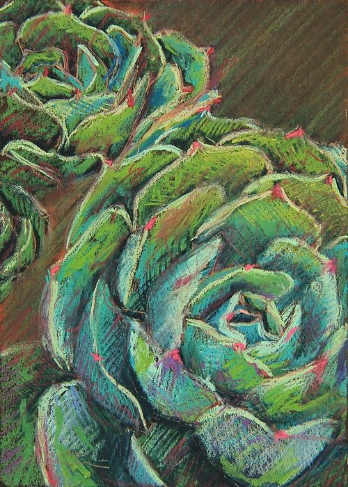 Green Echeveria Print by Athena  Mantle