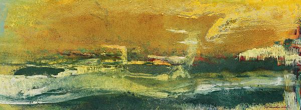Green Edge Print by Pat Saunders-White