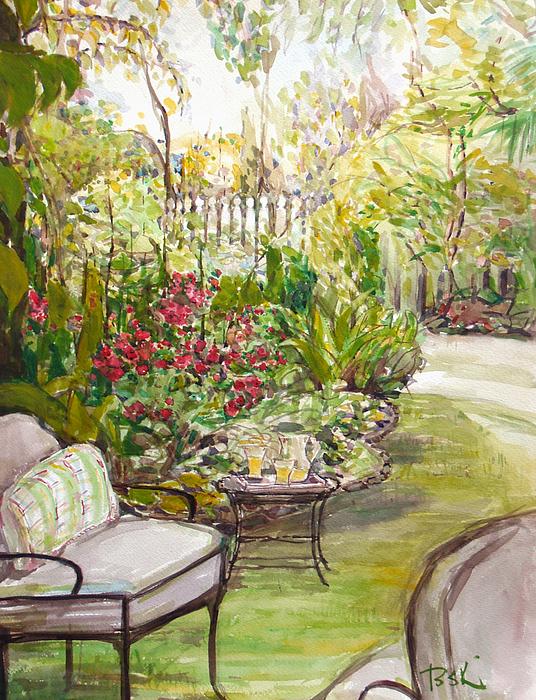 Green Garden Print by Becky Kim