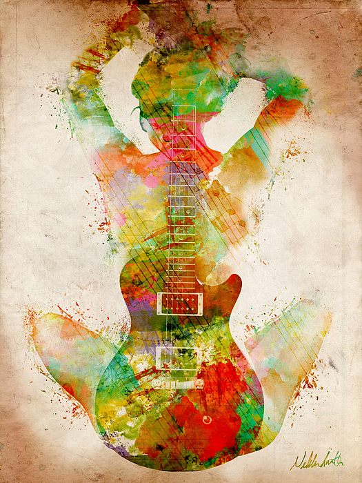 Guitar Siren Print by Nikki Smith