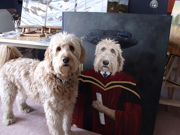 Diane Daigle - Gunther Approves of His Grad Portrait