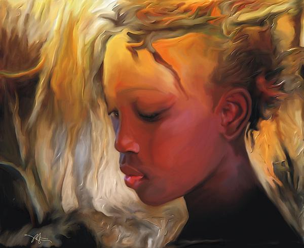 Haitian Beauty Print by Bob Salo