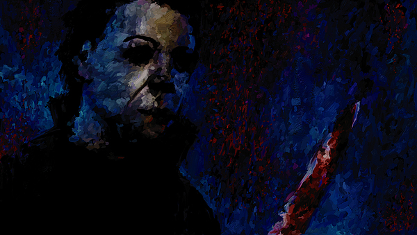 Halloween Michael Myers Signed Prints Available At Laartwork.com Coupon Code Kodak Print by Leon Jimenez