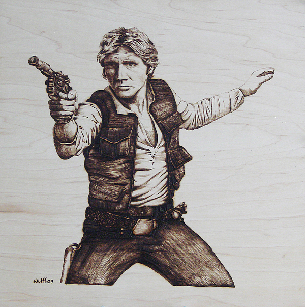Han Solo Print by Chris Wulff