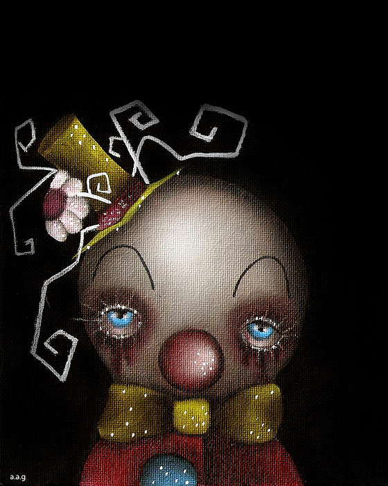 Hatter Clown Print by Abril Andrade Griffith