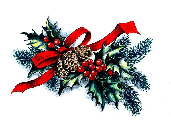 Have A Holly Holly Christmas Print by Tobi Czumak