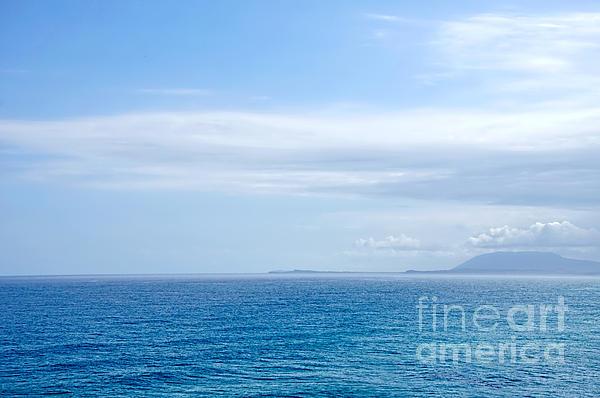 Hazy Ocean View Print by Kaye Menner