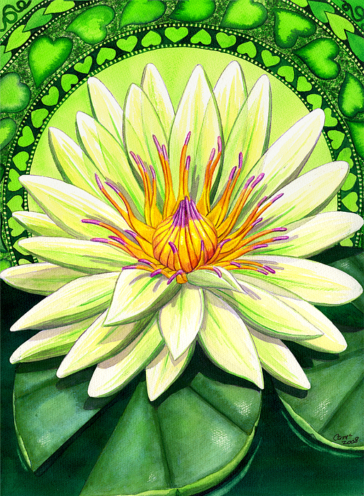 Heart Chakra Print by Catherine G McElroy