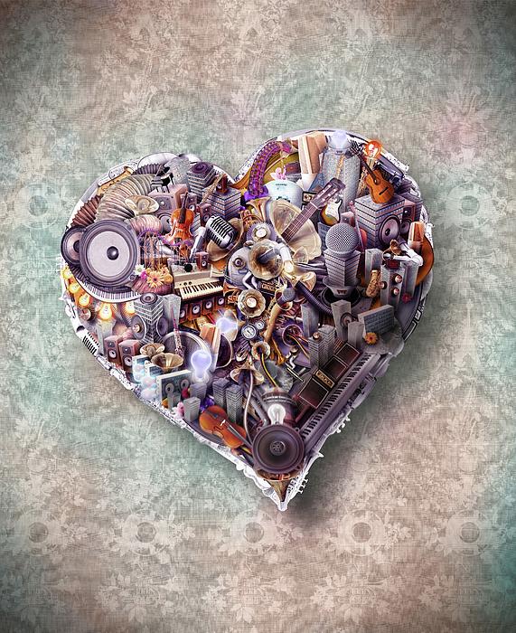 Heart Print by Robert Palmer