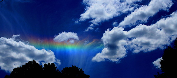 Heavens Rainbow Print by Linda Sannuti