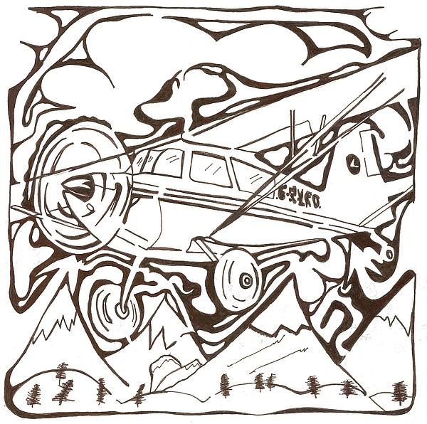 Heavier Than Air Maze Print by Yonatan Frimer Maze Artist