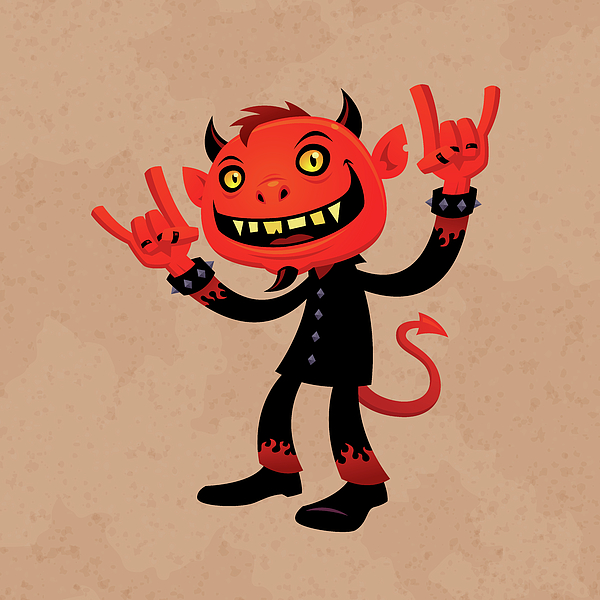 Heavy Metal Devil Print by John Schwegel