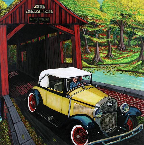 Henry Bridge Print by Bob Crawford