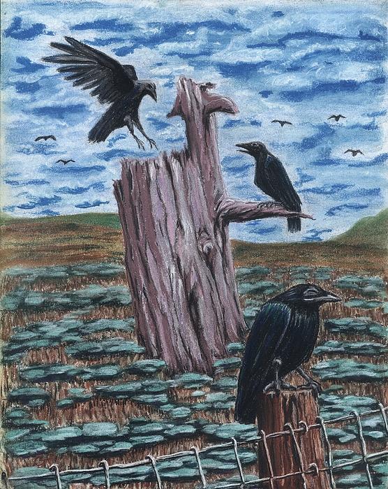 Here Come The Nieghbors Print by Gail Finn