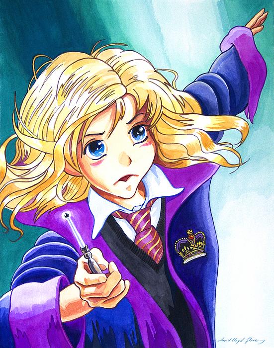 Hermione Print by David Lloyd Glover