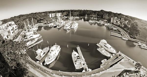 Hilton Head Harbor Town Yacht Basin 2012 Print by Dustin K Ryan