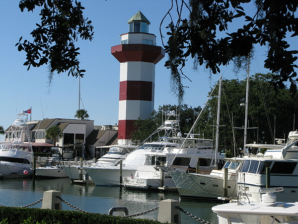 Hilton Head South Carolina Light House Print by Richard Singleton