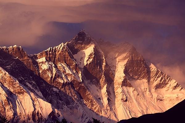 Himalayas At Sunset Print by Pal Teravagimov Photography
