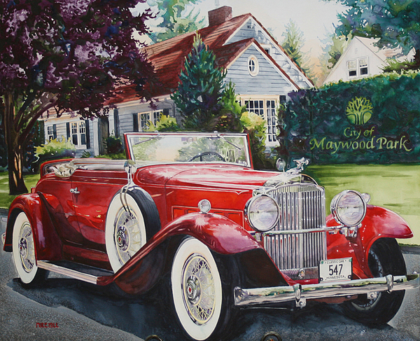 His And Hers Packard 1932 Print by Mike Hill