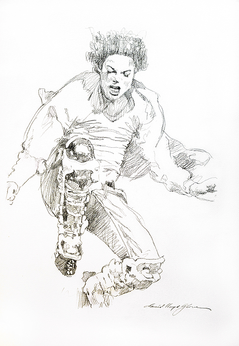 History Concert - Michael Jackson Print by David Lloyd Glover