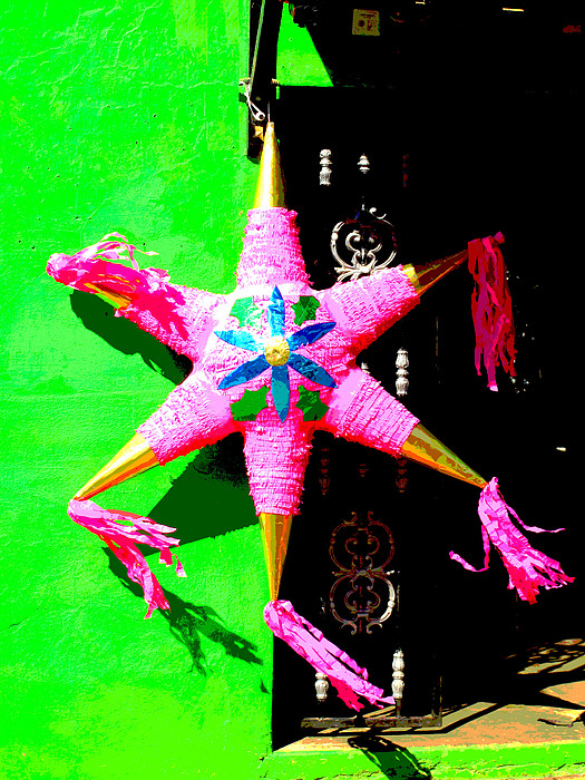 Holiday Pinata 2 By Darian Day Print by Olden Mexico