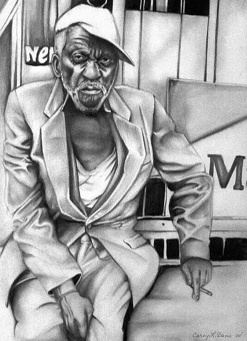 Homeless Print by Carey Davis