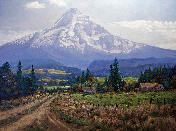 Hood River Valley Print by Donald Neff