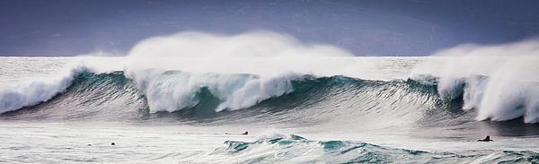 Hookipa Maui Big Wave Print by Denis Dore