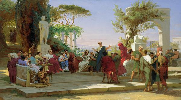 Horatius Reading His Satires To Maecenas Print by Fedor Andreevich Bronnikov