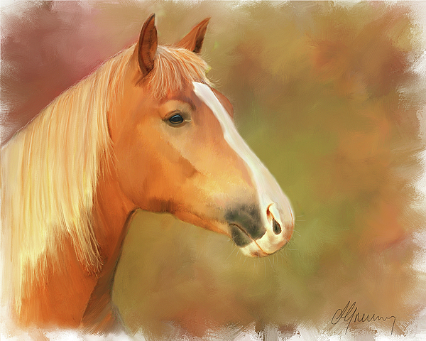 Horse Painting Print by Michael Greenaway