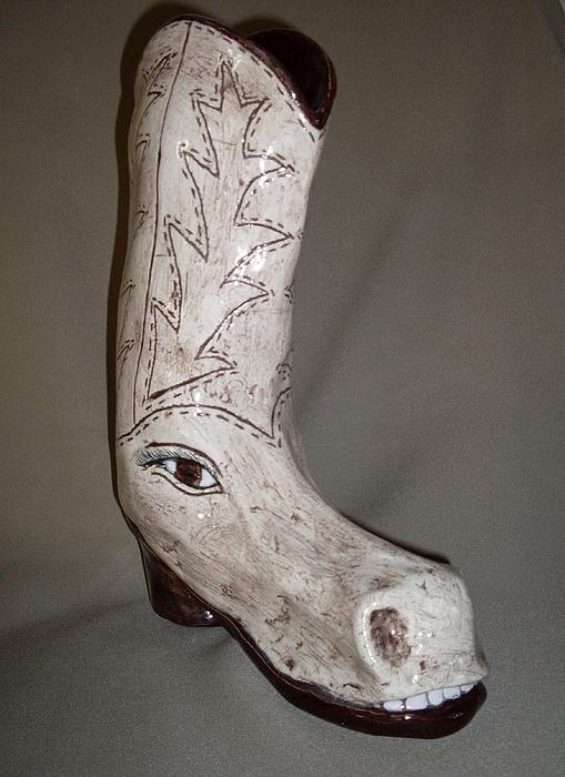 Horseshoe Print by Sally Van Driest