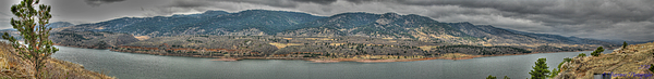 Horsetooth Reservoir Panoramic Hdr Print by Aaron Burrows