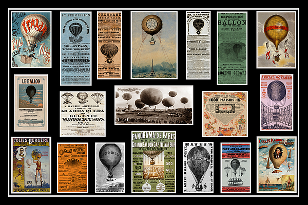 Hot Air Balloon Posters Print by Andrew Fare